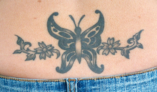 Butterfly lower back tattoos l Lower Back Tattoos