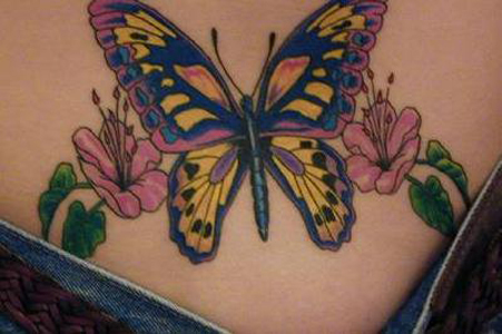 Lower back butterfly tattoos are considerably one of the sexiest lower back