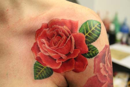 Top art designs of rose heart tattoos. pictures of rose tattoos