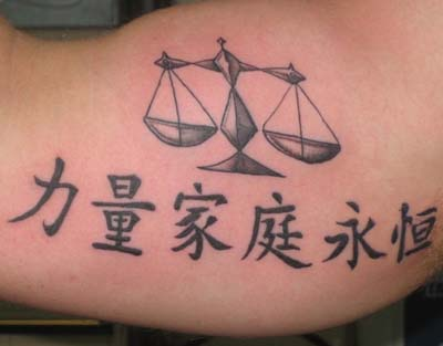 Libra Tattoo Picture – Libra Tattoo Design – Tattoos Design