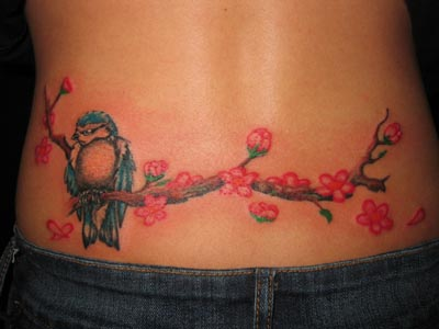 The designs are often drawn around the base … Cute Lower Back Tattoos